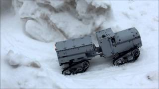 Lego IR RC 4-tracked ice vehicle (winter movie)