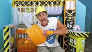 Giant Inflatable Construction Site ! Toy Review || Konas2002