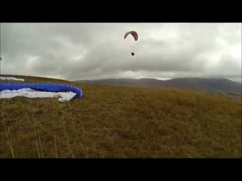 Flytribe at Bambi, paragliding on a cold & cloudy day