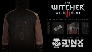 The Witcher 3 Geralt Armor Premium Zip-up Hoodie from J!NX