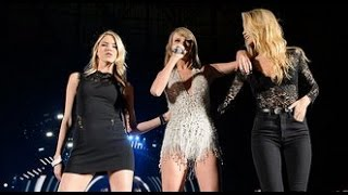 Taylor Swift Performs With Gigi Hadid & Martha Hunt On Stage For Concert Surprise