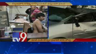 Ponnam Prabhakar injured in car accident - TV9