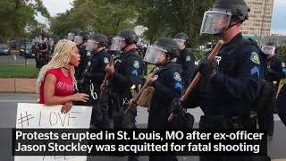 "St Louis Police Mock Antifa by Chanting ""Whose Street? Our Street' After Arrests"