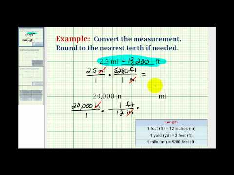 Examples:  Converting Between Different Units of  Lengths Using Standard or American System