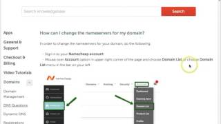 Changing DNS on Namecheap