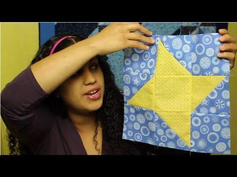 Como hacer un cuadrado de patchwork estrella de amistad - Como hacer pachwork ...