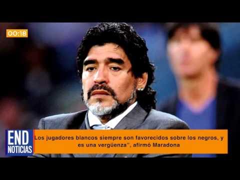 Maradona tacha de racista al Barcelona y al Real Madrid