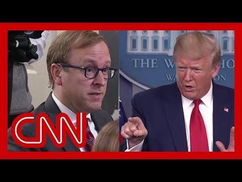 Download  Trump berates reporters when asked about report by his  Gratis, download lagu terbaru