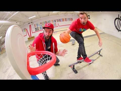 Ultimate Basketball Skateboarding Trick Shots!