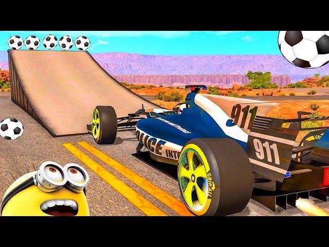 Мультфильм 2017 про машинки - Крутые прыжки машины и гонки. Мультики для детей
