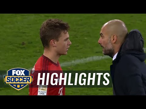 Guardiola gives Kimmich intense lesson right after match | 2015–16 Bundesliga Highlights