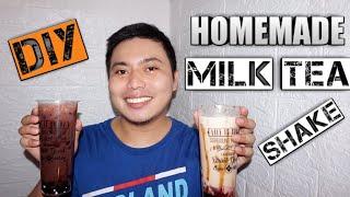 HOMEMADE MILK TEA AND MILK SHAKE(Quick and Easy) Pitz Rivera