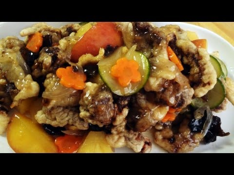 Sweet and sour beef (tangsuyuk)