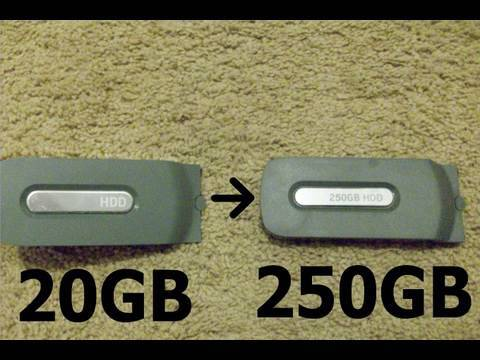 Transfer Xbox 360 Content From 20gb To 250gb Hard Drive