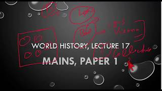 L 17,League of  Nations,  World History for UPSC/IAS/CSE Mains Paper 1