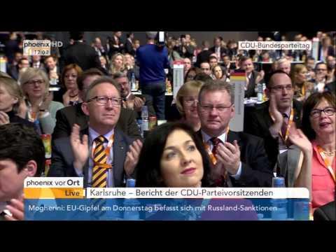 CDU-Parteitag: Rede von Bundeskanzlerin Angela Merkel am 14.12.2015