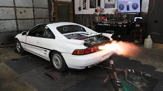 TWIN TURBO MR2 MAKES SOME BOOST!