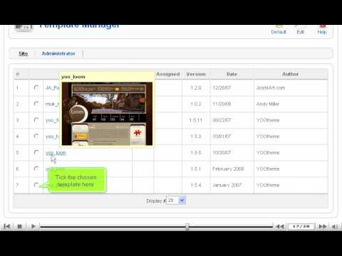Choose and install template in Joomla | SiteGround Joomla Tutorial