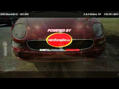 2003 Maserati Gt Gt 6 Speed - For Sale In 369 Bay Rd Queensbury , Ny 12528 video