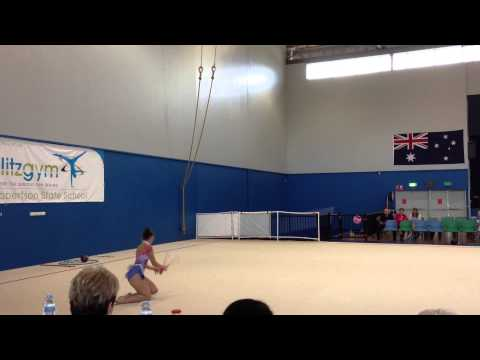 Splitz Gym Rhythmic Gymnastics - Chelsea Zwoerner Jnr International - Clubs