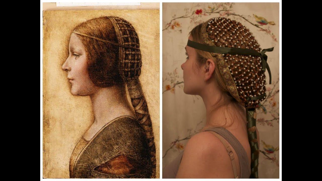 Collaboween: DIY Hair Snood inspired by Da Vinci's La Bella Principessa. - YouTube