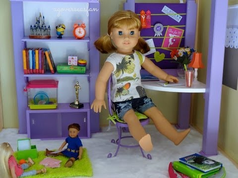 Setting up American Girl Doll House with Furniture