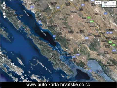 video karta hrvatske Auto Karta Hrvatske   Road Map Of Croatia   Kroatien Karte  video karta hrvatske
