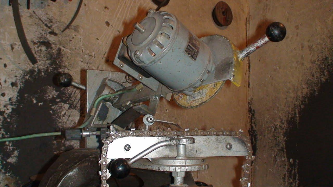 Станок для заточки цепей бензопил своими руками: из болгарки 79
