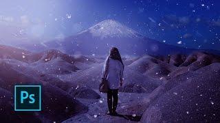 Snow Effect Photoshop Tutorial - Dramatic Effects - Photoshop Manipulation tutorial