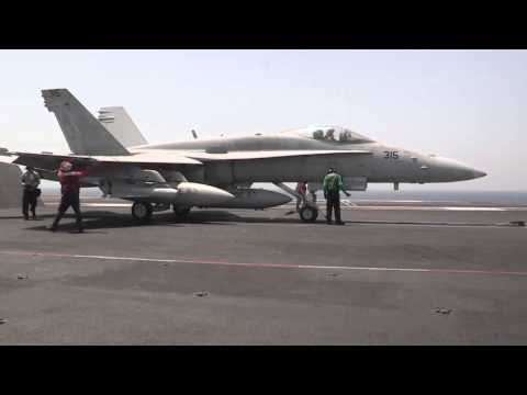 Valions' F/A-18 Launches from USS George H.W. Bush