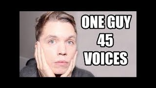 One guy,45 voices roomie vs the artist