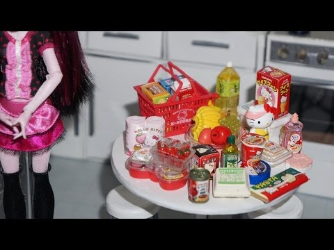 Re-Ment: Hello Kitty Supermarket - miniaturas unboxing