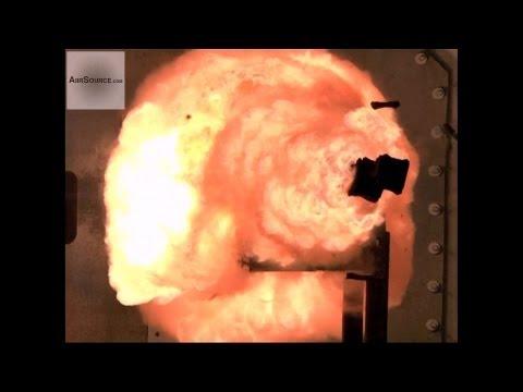 U.S. Navy Electromagnetic Railgun Test Fire | AiirSource