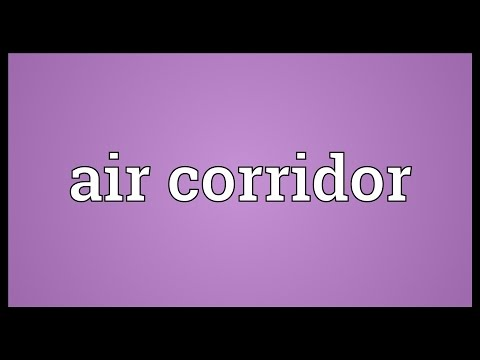 Header of air corridor