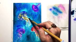 Watercolor Jellyfish Demonstration Part 2