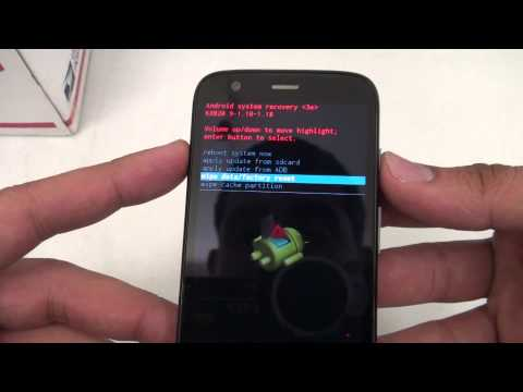 Hard Reset Master Clear - Motorola Moto G Verizon. Boost Mobile GSM CDMA Password Removal