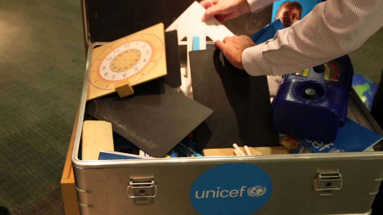 Unboxing A Unicef School In A Box Youtube