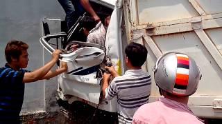 Dĩ An Bình Dương tai nạn xe do tài xế ngũ rật