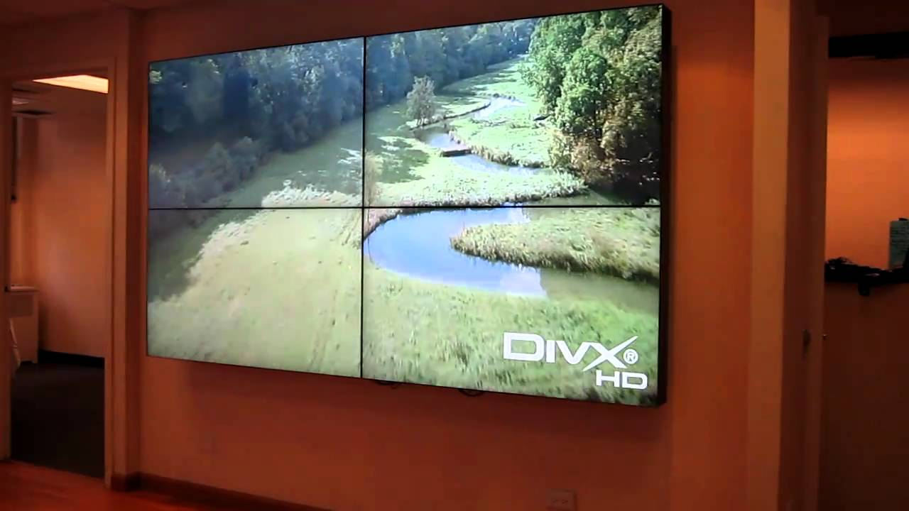 Primeview 55 Quot Lcd Video Wall Super Thin Bezel Youtube