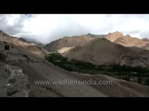 Point of view on Ladakh highway, Jammu and Kashmir