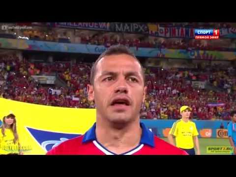 Himno Nacional de Chile - Mundial Brasil 2014 (Chile vs Australia)