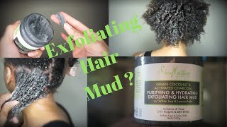Shea Moisture Review Green Coconut & Activated Charcoal Exfoliating Hair Mud | Euniycemari