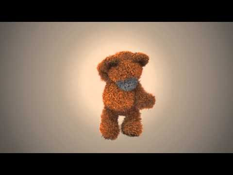I will make this funny bear to dance with your logo