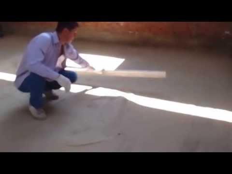 """Обустройство полов плитами """"Бережливый"""" шаг 1: подготовка поверхности"""