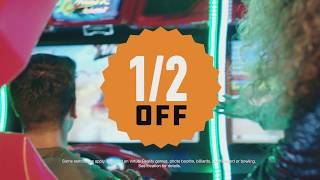 Dave & Buster's | Half Price Games | Sunday-Thursday After 9 pm