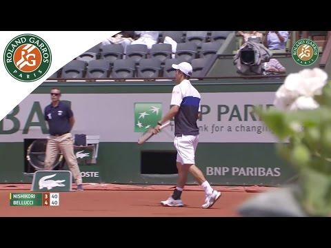 【錦織圭】2015全仏オープン 2回戦 VS トマス・ベルッチ 7-5、6-4、6-4ストレート勝利のキャプチャー