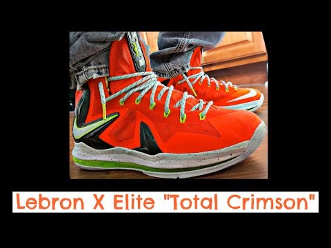 Lebron X PS Elite Total Crimson HD Review + On Feet + Thoughts for Nike Lebron Pink Denim 6/22
