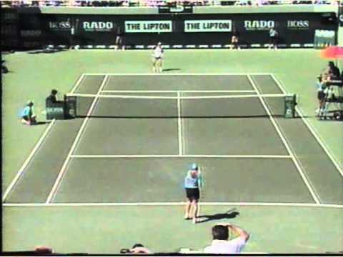 Andre Agassi vs Ball Girl