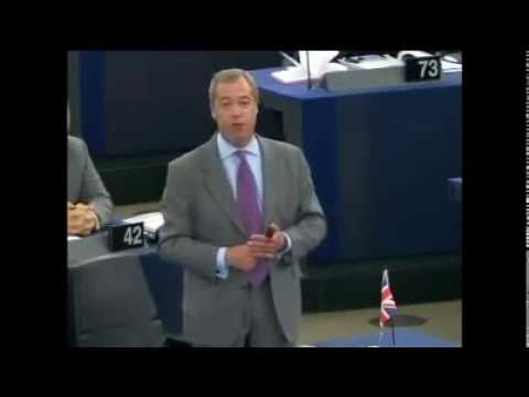 Nigel Farage; Scolds At EU 'Naked Militarism' In Spectacular Euro Parliament Rant