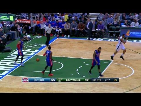 Quarter 3 One Box Video :Bucks Vs. Pistons, 2/27/2016 12:00:00 AM